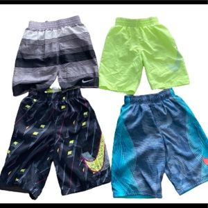 Nike Boys Bathing Swim Suit Lot Bundle Size Small.
